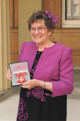 Pauline Littleton receives her MBE